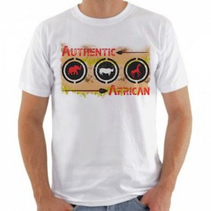 Camiseta Branca Authentic African