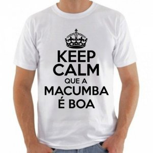 Camiseta Branca Keep Calm Macumba